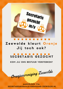 Secretaris gezocht